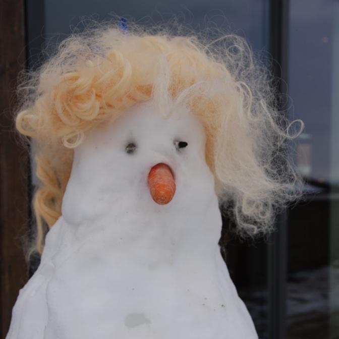 Snømann i en hatt